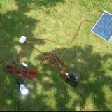 Kit Incarcare Solara cu Panou Fotovoltaic, Becuri si USB 18V 6W