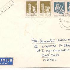 % plic-scrisoare-Francat cu 2 perechi-Par avion, An: 1989