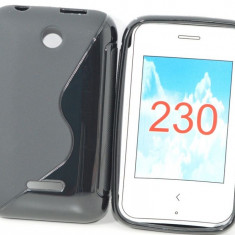 Husa Nokia Asha 230 TPU S-LINE Black, Negru, Gel TPU, Carcasa