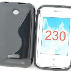 Husa Nokia Asha 230 TPU S-LINE Black - Husa Telefon Nokia, Negru, Gel TPU, Fara snur, Carcasa