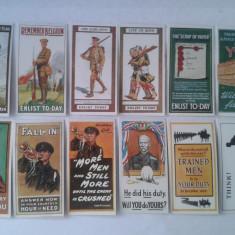 Cartonase de colectie tigari, replica Recruiting Posters Cards 1915 set complet - Cartonas de colectie