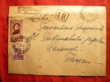 Plic circ.Odobesti-Focsani ,stamp.AR in dreptunghi ,recomandat Odobesti 1956