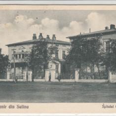 SUVENIR DIN SULINA, SPITALUL C.E.D. CIRCULATA JUL.'931 - Carte Postala Dobrogea dupa 1918, Printata