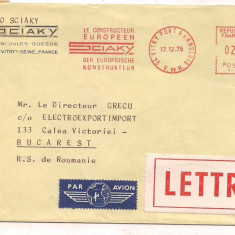 % plic-scrisoare-FRANTA-Par avion, An: 1975