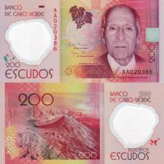 CAPUL VERDE 200 escudos 2014 polymer UNC!!!