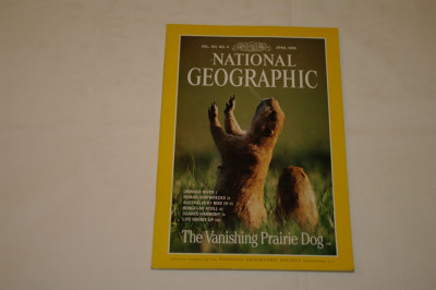 National Geographic - april 1998 - The Vanishing Prairie Dog foto