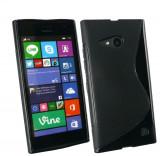 Husa Nokia Lumia 730 735 TPU S-LINE Black, Negru, Gel TPU, Carcasa