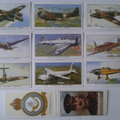 Cartonase de colectie tigari, replica Aircraft of the Royal Air Force Cards 1938 - Cartonas de colectie