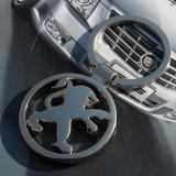 Breloc auto nou PEUGEOT inox si ambalaj  cadou