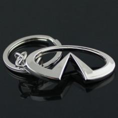 Breloc auto nou metal metalic argintiu INFINITI + cutie cadou