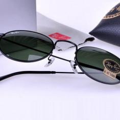 Ochelari de soare Ray Ban Round Metal RB3447 002 Originali, Unisex, Verde, Rotunzi, Protectie UV 100%