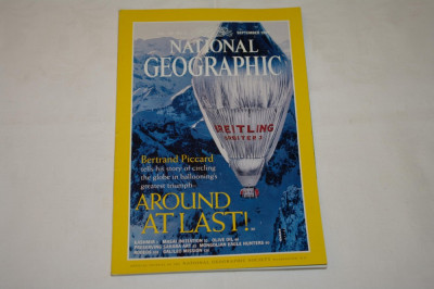 National Geographic - september 1999 - Bertrand Piccard - Around at last ! foto