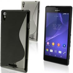 Husa SONY XPERIA T3 TPU S-LINE Black - Husa Telefon Sony, Negru, Gel TPU, Fara snur, Carcasa