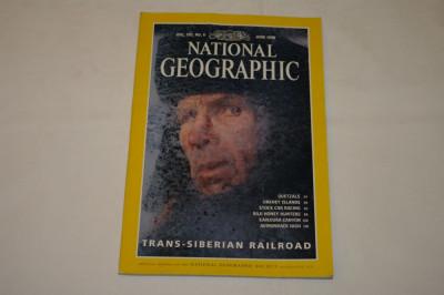 National Geographic - june 1998 - Trans-Siberian railroad foto
