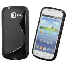 Husa Samsung Galaxy Trend Lite S7390 TPU S-LINE Black - Husa Telefon Samsung, Negru, Gel TPU, Fara snur, Carcasa