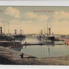 CONSTANTA, EXPORTUL DE PETROL - BAZENUL NECIRCULATA - Carte Postala Dobrogea 1904-1918, Printata