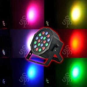 SET 4 PARI LEDURI PROFESIONALI COLOR RGB 18 LED X 3 WATT ,AFISAJ LCD,DMX512.NOU.