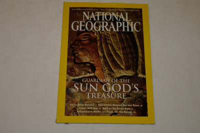 National Geographic - november 2003 - Guardian of the Sun God's Treasure foto