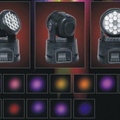 MOVING HEAD BEAM CU LEDURI DE PUTERE MARE 18LEDx3WATT COLOR RGB, DMX512 - Moving heads club