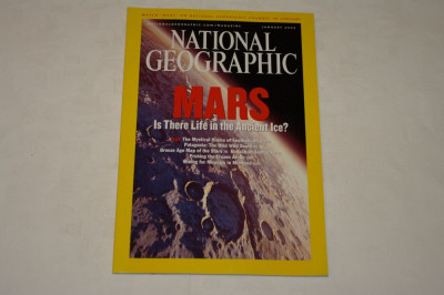 National Geographic - january 2004 - Mars - Is there life in the ancient ice ? foto