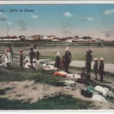 DOBROGEA TECHIRGHIOL, BAILE DE DAME, CIRCULATA AUG.*915 - Carte Postala Dobrogea 1904-1918, Printata