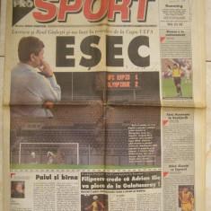 Ziarul Pro Sport nr. 17 an 1/1997 Rapid Galatasaray