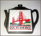 Suport pentru vase fierbinti Placa ceramica in rama de antimoniu,San Francisco