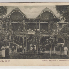 ORADEA, BAILE FELIX, HOTELUL AMERICA, CIRCULATA *925 - Carte Postala Crisana dupa 1918, Printata