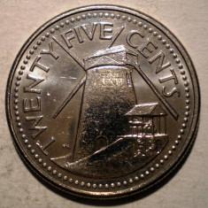 7.746 BARBADOS 25 CENTS 2003 XF, America Centrala si de Sud