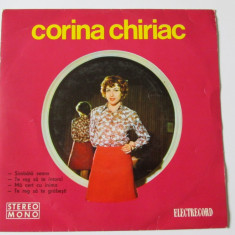 VINIL SINGLE ELECTRECORD EDC 10328 CORINA CHIRIAC IN STARE F.BUNA - Muzica Pop