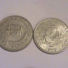 Mokazie! 100 Escudos Portugalia 1989 Canarias, Europa