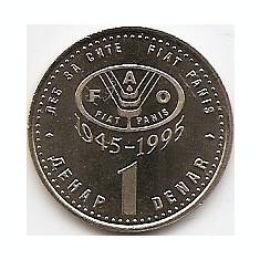 Macedonia 1 Denar 1995 - FAO KM-5 UNC !!!, Europa