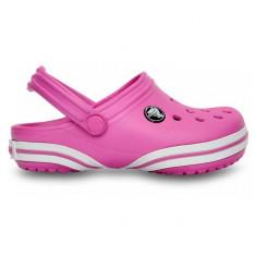 Sabotii Crocs pentru copii Crocband-X Clog Party Pink (CRC-6004-6U9) - Papuci copii Crocs, Marime: 21.5, 27.5, 29.5, Culoare: Roz