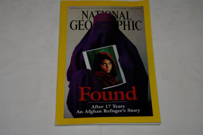 National Geographic - april 2002 - FOUND - After 17 years an afghan refugee's .. foto
