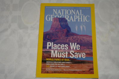 National Geographic - october 2006 - Places we must save - world parks at risk foto