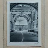 Grafica/ acuarela pe hartie/ C.A. 96