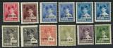 """RO-68=ROMANIA 1930,Serie de 12 timbre MIHAI I cu supratipar """"8 iunie 1930""""-MLH"""
