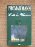 Thomas Mann - Lotte la Weimar, Rao