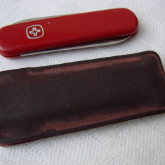 Briceag elvetian marca Wenger Delemont Switzerland Stainless cu husa - Briceag/Cutit vanatoare