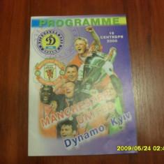 Program Dinamo Kiev - Manchester United - Program meci