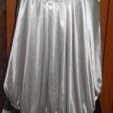Rochie argintie gri cu negru volan asimetrica FUNK ROCK S M