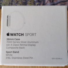 Apple Watch Sport 38 mm - Smartwatch Apple, Aluminiu, Argintiu