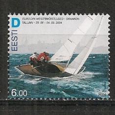 Estonia.2004 C.E. de yachting Tallin HE.170 - Timbre straine, Nestampilat