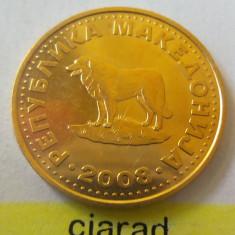 Moneda 1 Denar - MACEDONIA 2008 *cod 1963 xF, Europa