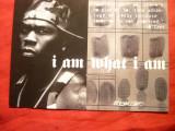 Ilustrata Reclama pt Cantaretul american Rap -50 Cent -I am what I am, Necirculata, Fotografie