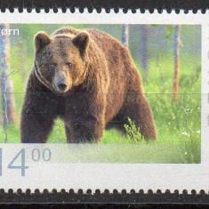 NORVEGIA 2015, Fauna - Urs, serie neuzata, MNH