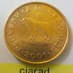 Moneda 1 Denar - MACEDONIA 2001 *cod 1961 xf+/a.UNC, Europa