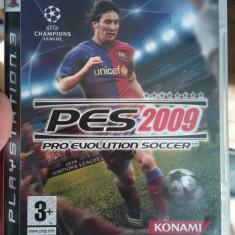 Joc original Playstation 3 blu ray disc PES 2009 PS3 stare foarte buna fotbal - Jocuri PS3 Altele, Sporturi, 12+