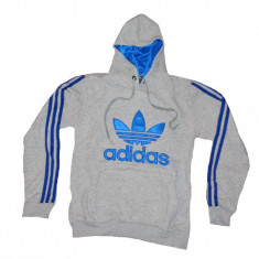 Cardigan cu gluga Hanorac Adidas Originals barbati - Hanorac barbati Adidas, Marime: S, L, Culoare: Bleumarin, Gri, Bumbac