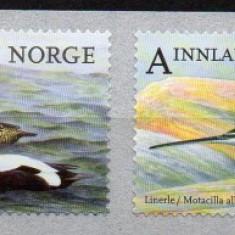 NORVEGIA 2015, Fauna - PASARI, serie neuzata, MNH